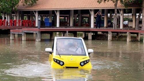 تايلاند تطلق سيارة تطفو على سطح الماء لمواجهة تسونامي