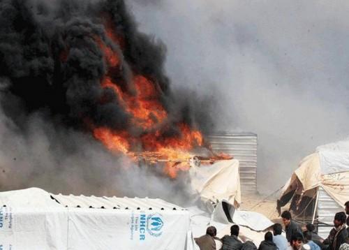 مصرع 4 أطفال بالعراق نتيجة حريق بمخيماتهم في كركوك