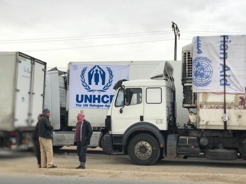تنظيم أكبر قافلة مساعدات إنسانية لمخيم الركبان في سوريا