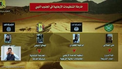 المسماري يعلن عن خارطة التنظيمات الإرهابية في الجنوب الليبي