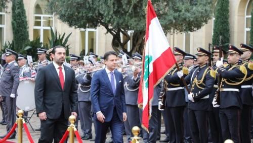 رئيس وزراء إيطاليا: سنكون دوما إلى جانب لبنان
