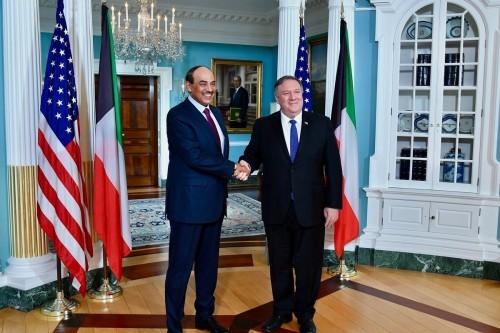 وزير الخارجية الأمريكي يلتقي نظيره الكويتي