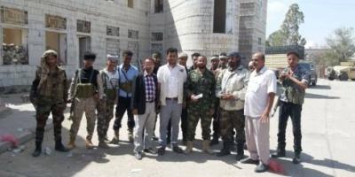 الحزام الأمني يلاحق المعتدين على مستودع الإغاثة بمريس مديرية قعطبة