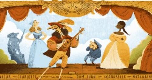 """""""جوجل"""" يحتفل بممثل المسرح الفرنسي موليير"""