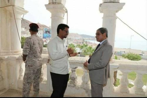 محافظ حضرموت يوجه بترميم قصر السلطان القعيطي ومبنى متحف المكلا