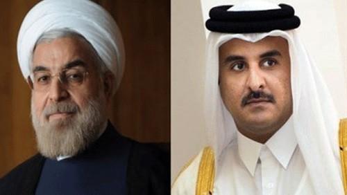 انبطاح الحمدين مستمر.. تميم يُهنئ ملالي إيران بذكرى الثورة