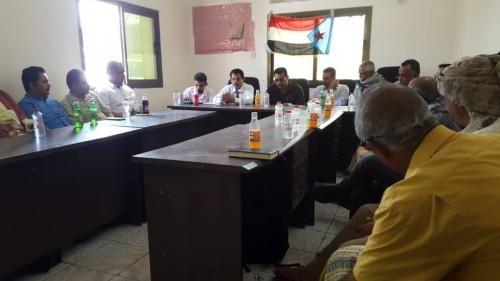 رئيس القيادة المحلية للمجلس الانتقالي الجنوبي الجديد بلحج يتسلّم مهام عمله