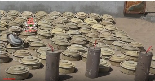 الفرق الهندسية لألوية العمالقة تنزع 250 لغم من قرية القضبة بالحديدة (فيديو)
