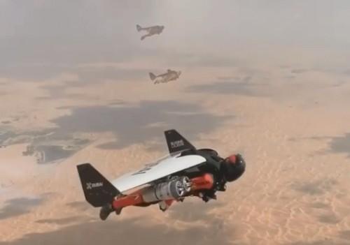 ولي العهد يُحلق في سماء دبي (فيديو)