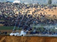 إصابة 20 فلسطينياً في الجمعة الـ47 لمسيرات العودة شرقي غزة