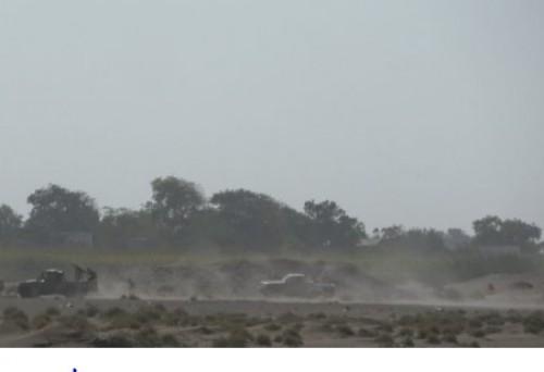 مليشيات الحوثي تستهدف مواقع العمالقة في الحديدة