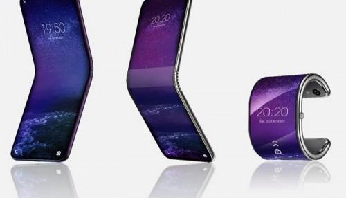 شركة صينية تطور هاتف قابل للطي على شكل سوار