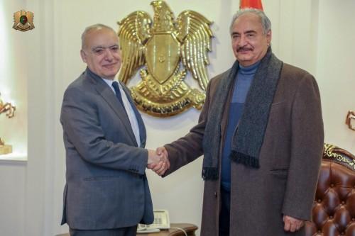 سلامة يجتمع مع قائد الجيش الوطني الليبي