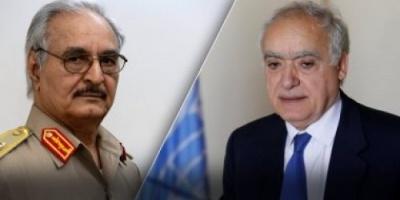 حفتر يلتقى بالمبعوث الأممي لمناقشة تطورات الأحداث في ليبيا