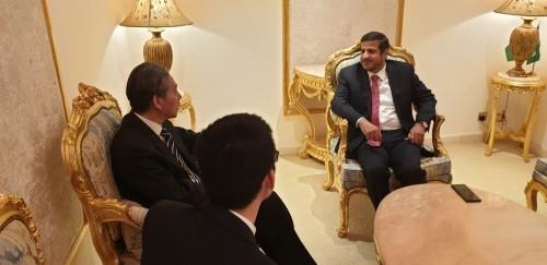 """مباحثات يمنية صينية لتفعيل مبادرة """"الحزام والطريق"""""""