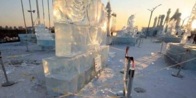 """بسبب درجات الحرارة..  معرض """"عالم هاربين"""" للجليد والثلوج يغلق قبل موعده"""