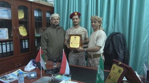 تكريم خاص من دائرة الإمداد بألوية الدعم والإسناد لـ سامح الجعشاني