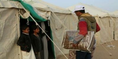 توزيع مساعدات إيوائية لـ500 أسرة نازحة بمأرب