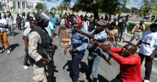 شرطة هايتي تواجه مشيعين جنازة بالطلقات المطاطية
