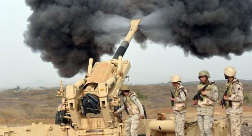 أمر سعودي بصرف راتب شھر مكافأة للمقاتلين على الحدود مع اليمن