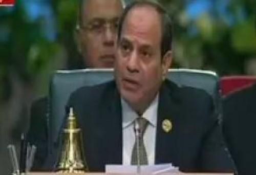 الرئيس المصري يعرب عن أمله فى الوصول لرؤية مشتركة للتعامل مع تحديات العالم