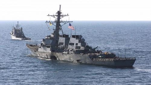 استفزاز أمريكي للصين بعبور سفينتين حربيتين بمضيق تايوان