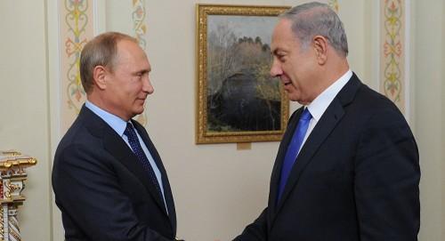 بوتين ونتنياهو يبحثان غدًا التموضع الإيراني في سوريا