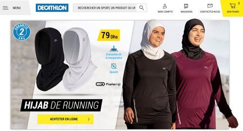 موجة غضب تجبر سلسلة ملابس فرنسية على سحب حجابًا رياضيًا