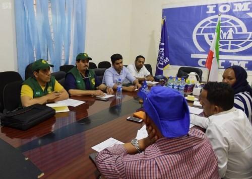 فريق من الملك سلمان للإغاثة يتفقد أوضاع الصوماليين العائدين من اليمن