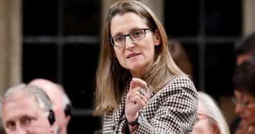 وزيرة الخارجية الكندية: أؤيد رئيس الوزراء بنسبة 100%