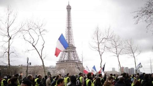 """تراجع عدد """"السترات الصفراء"""" إلى 4000 فرنسي في أسبوعها الـ 16"""