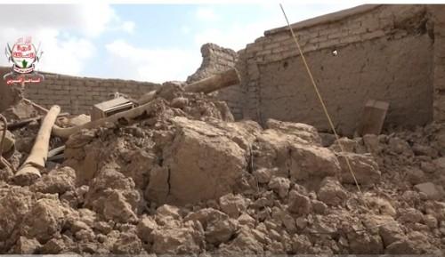 قذائف مليشيات الحوثي تدمر منازل المواطنين في التحيتا بالحديدة (فيديو)