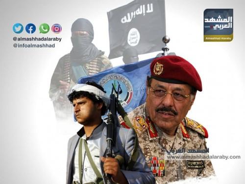 """علي محسن الأحمر والإخوان والقاعدة.. """"شياطين"""" سرقت المال وصنعت الإرهاب"""