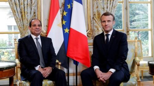 ماكرون والسيسي يبحثان التسوية السياسية للملف الليبي
