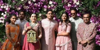 مشاهير العالم يحضرون حفل زفاف ابن أغنى رجل في آسيا