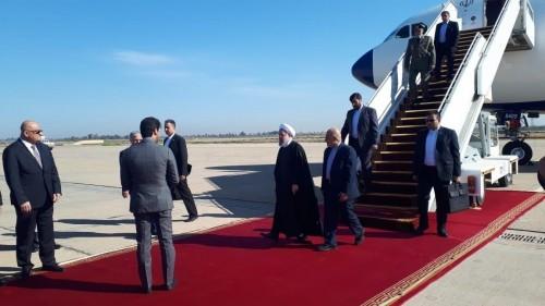 """عاجل.. """" روحاني """" يصل إلى بغداد دون استقبال رسمي (صور)"""