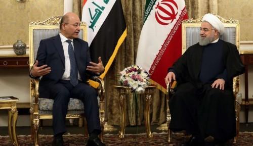 """الرئيس العراقي لـ""""روحاني"""": لا نريد أن تكون بلادنا ساحة للصراع"""