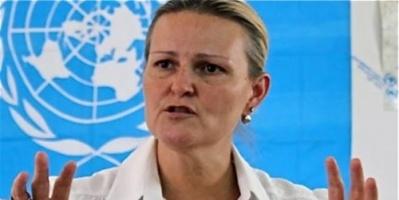 """""""ليز غراندي"""" في أحضان الحوثي بعد بيان الإدانة الذي كشف التواطؤ الأممي بشأن حجور"""