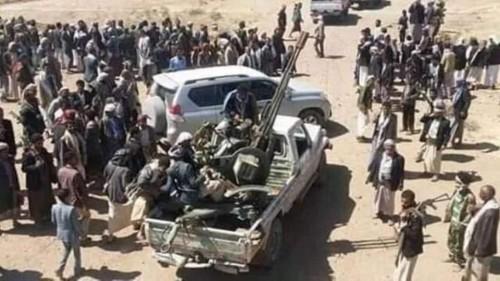 نساء حجور يوجهنّ رسالة نارية للحوثي (فيديو)