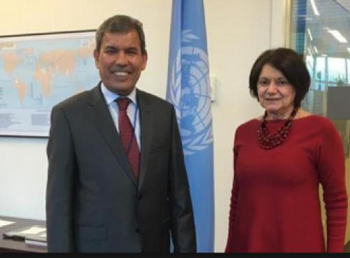 مسؤول يمني يلتقي رئيس الدورة الـ 73 للجمعية العامة للأمم المتحدة