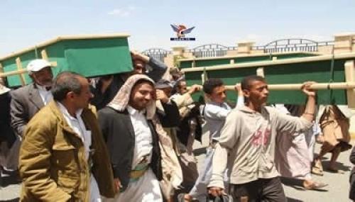 مليشيا الحوثي تشيع عشرات القتلى في مواجهات حجور