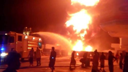 مصدر بدفاع مدني حضرموت يكشف أسباب حريق محطة العيون
