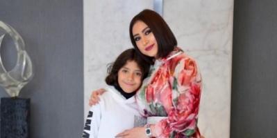 المطربة بوسي تحتفل بعيد ميلاد ابنها
