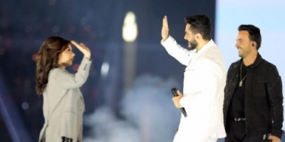 تامر حسني وأصالة والجسمي يتألقون في حفل افتتاح الأولمبياد الخاص (فيديو وصور)