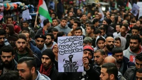 إصابة مئات المتظاهرين بغزة في مواجهات مع شرطة حماس