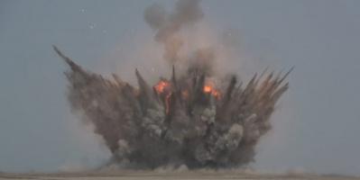 صورة من الألغام الحوثية التي فجرها الحوثي اليوم في الساحل الغربي