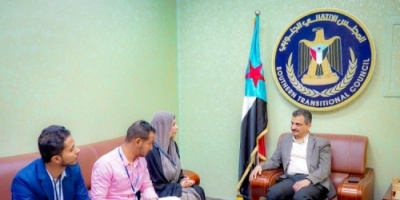 """الأمين العام للمجلس الانتقالي يلتقى مع مسؤولة الشرق الأوسط بمنظمة """"نداء جنيف"""""""