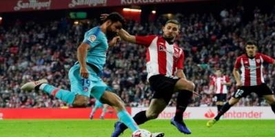 أتليتكو بلباو يمهد الطريق لبرشلونة للتتويج بالدوري