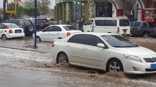 أمطار غزیرة في صنعاء