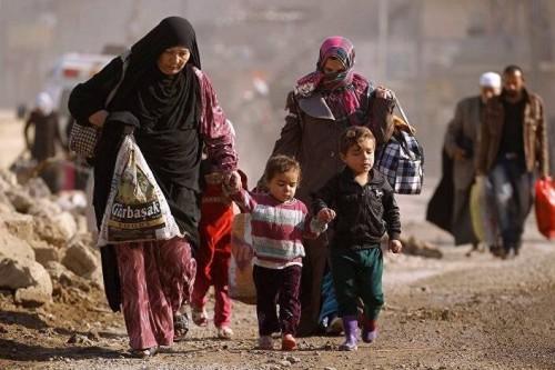 قوات سوريا الديمقراطية: قرابة 60 ألف مواطن فروا من آخر جيب لداعش